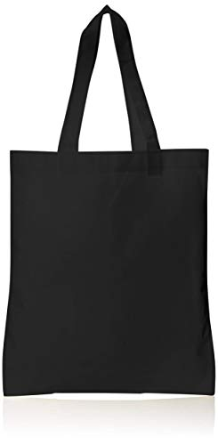Cloth Bags Wholesale (BagzDepot Tote Bags Bulk - 25 Pack - Wholesale Tote Bags, Non-Woven Convention Bags, Promotional Tote Bags, NTB10 -)