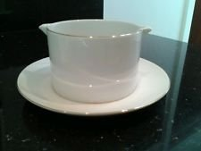 THOMAS CHINA THIN PLATINUM (745) SAUCE BOAT FIXED TO STAND - NEW -