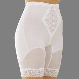 Rago Shapewear Long Leg Pantie Girdle Style 6795 - White - 3XLarge