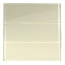 Cream Glass 4 X 12 Subway Tile 4 X 12 Sample Amazoncom