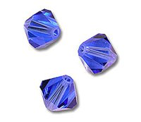 Swarovski Crystal Bicone Beads 5328 2.5mm Sapphire (Package of - Bicone Mm 2.5