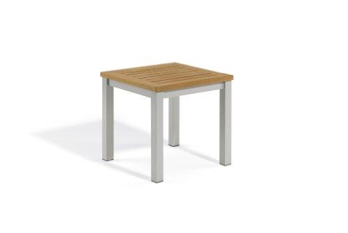 Oxford Garden TVETN Travira End Table, Natural Tekwood (Oxford Side Garden Classic Chair)