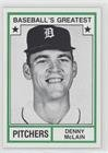 Denny McLain (Baseball Card) 1982 TCMA Baseball's Greatest - Pitchers - Tan Back #1982-24