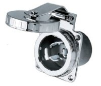 (HUBBELL HBL504SS SS INLET - 50A 125/250V)