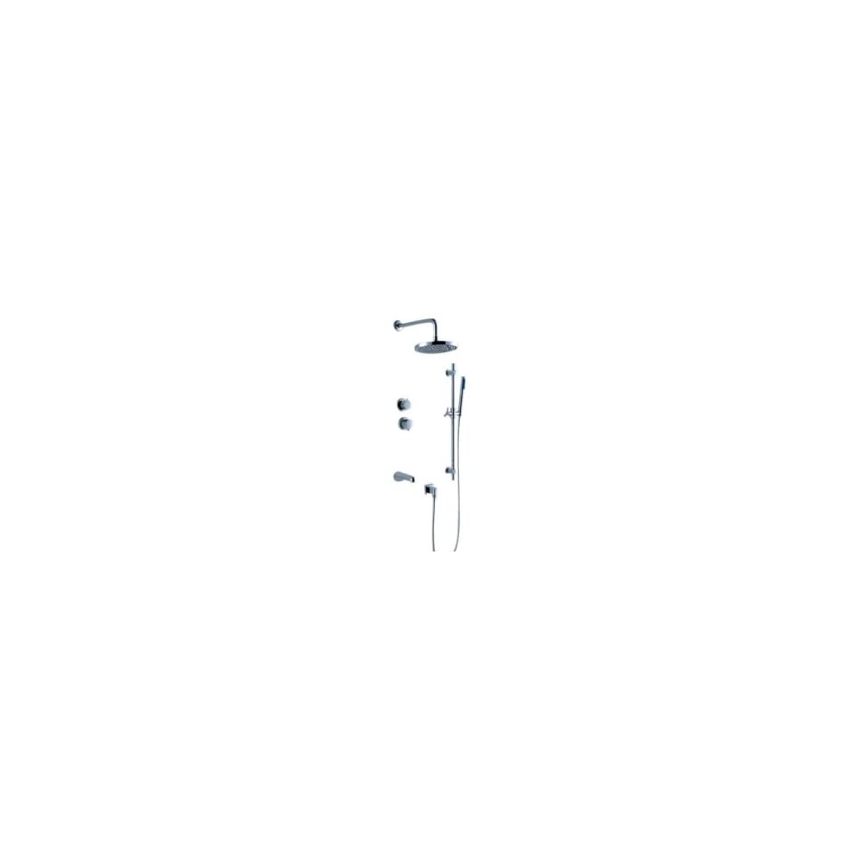 Rainfall Chrome Wall mount Tub / Shower Faucet