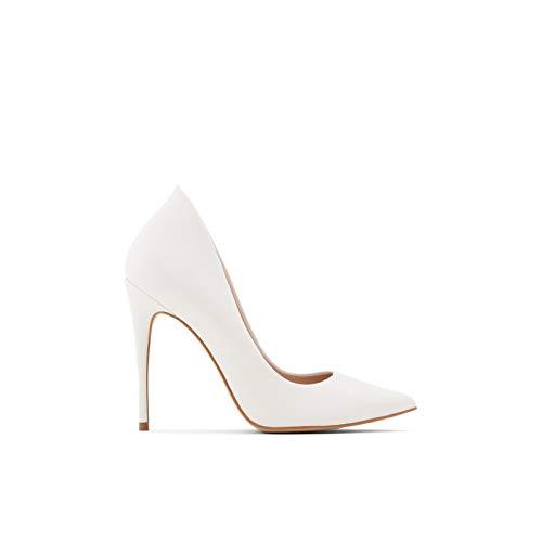 ALDO Women's Cassedy Stiletto Heel Pump, White