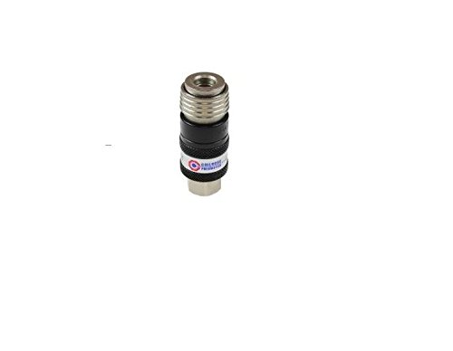 """Coilhose Pneumatics 150USE 5-In-1 Automatic Safety Exhaust Coupler, 1/4"""" Body x 1/4"""" NPT Female, Black/Silver from Coilhose Pneumatics"""