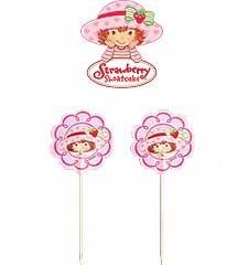 Wilton Strawberry Shortcake Cupcake Fun Pix ~ 144 Total!