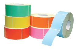 (Yellow Colored Thermal Transfer Labels w/Perforation 4 x 3