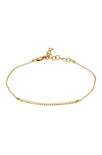 Diamond bar bracelet, 14k solid gold, pave diamond bar ()