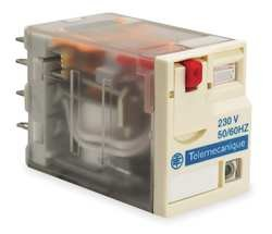 Plug In Relay, 14 Pins, Square, 230VAC