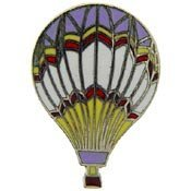 Metal Lapel Pin - Blimps and Balloons - Hot Air Balloon - Purple Top