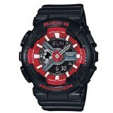 G-Shock Women's BA110SN Black/Red Watch
