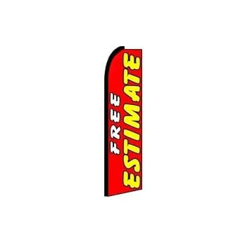 TWO Smog Check Inspection and Repair 31 foot Swooper Feather Flag Sign