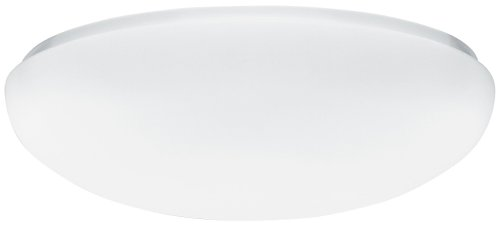 Lithonia Lighting FM 22 ACLR LP M4 Acrylic Single-Light Fluorescent Semi-Flush-Mount Ceiling Fixture, White ()