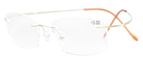 Eyekepper Titanium Rimless Eyeglasses Men Women - Lightweight Eyeglasses Rimless