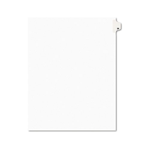 Avery Legal Dividers, Premium Individual Tab Titles, Letter Size, Side Tabs, 26, Pack of 25 - Letters Title