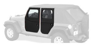 Bestop Jeep Wrangler Door - Bestop 51798-35 Black Diamond 2-piece Door Set for 2007-2018 JK Wrangler 2-Door and Unlimited - Front