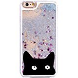 DECO FAIRY Compatible with iPhone 6 / 6s, Cartoon Anime Animated Blue Glitter Cat Meow Kitty Kitten Secret Life of pets series PVC Hard Cover Case
