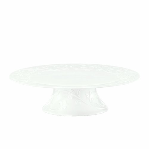 Lenox Opal Innocence Carved 11-1/4-Inch Large Footed Cake Plate