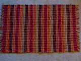 Lido Red Striped Rag Rug, 2 x 3