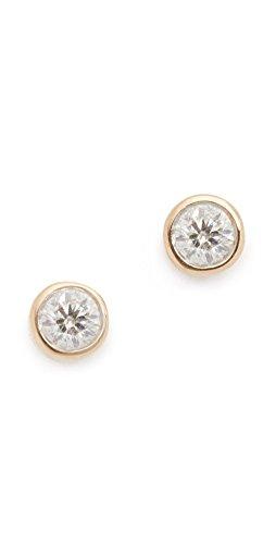 d Single Diamond Stud Earrings (Adina Reyter : Jewelry Earrings)