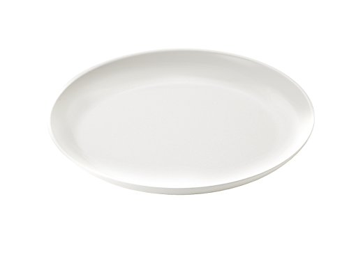 Guzzini My Fusion Melamine Dinner Plate, 10-1/4-Inches, Milk White