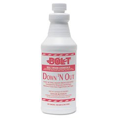 (3 Pack Value Bundle) TOLDOWNNOUT Down & Out One Shot Drain Opener, 32 oz ()
