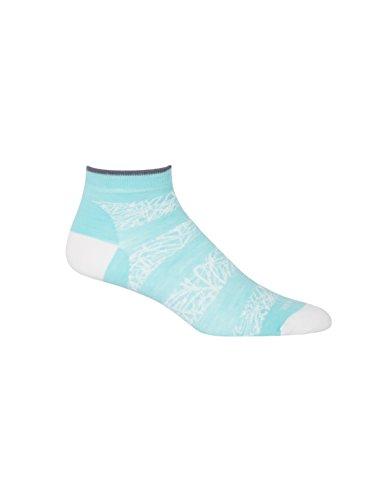 Teardrop Slice - Icebreaker Women's Lifestyle Fine Gauge Ultra Light Low Cut Palm Slice Socks, Snow/Teardrop/Jet Heather, One Size