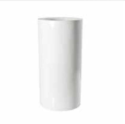 Blumenübertopf Klax, aus Resin-Steinmischung, sonnen-und regenbeständig für Innen und Außen, Farbe Weiß glänzend,Ø 30 cm Höhe 60cm