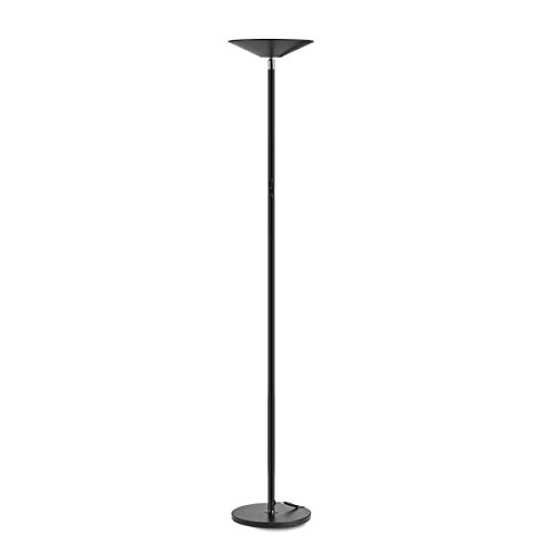Floor Lamp, LED Torchiere Super Bright Floor Lamps, Dimmable 20W LED Floor Light with Touch Control and Wall Switch, Standing Lamp with Stepless Dimmer for Living Room and Bedroom. 90° Adjustable Top
