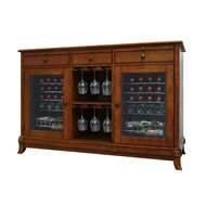 Vinotemp VNTVT-CAVA2D-RM Cava 36-Bottle Dual-Zone Thermoelectric Wine Credenza, Rich Maple