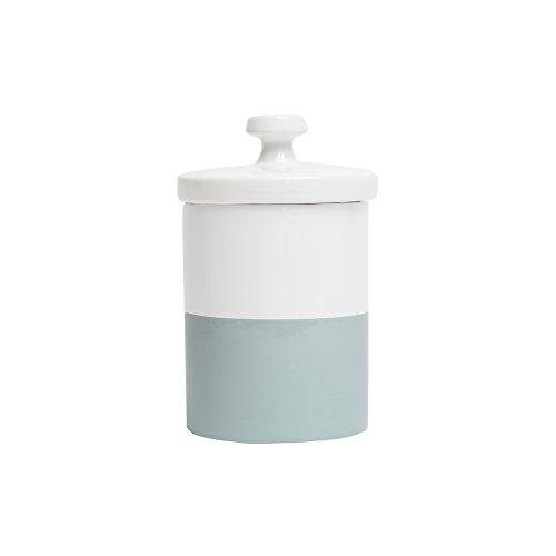 Waggo Dipper Ceramic Dog Treat Jar Cloud Blue/White Heavyweight Durable Designer Dog Treat And Cookie Jar ()