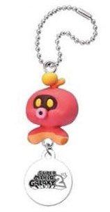 Super Mario Galaxy 2 Gacha Enemy Danglers Schlüsselanhänger / Ball Chain: Octoguy / Oktopod Takara Tomy