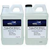 Crystal Clear Epoxy Resin   TotalBoat 1 Gallon Epoxy Resin & Hardener Kit for Bar, Table Tops & Countertops   Pro Epoxy Coating for Wood, Concrete, Art by TotalBoat