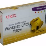 C2424 Yellow Ink Solid (Genuine Xerox Yellow Solid Ink Sticks for the WorkCentre C2424 (3 pcs/Box),  108R00662)