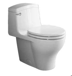 Veneto 1.6 GPF Elongated 1 Piece Toilet Finish: Biscuit - One Piece ...
