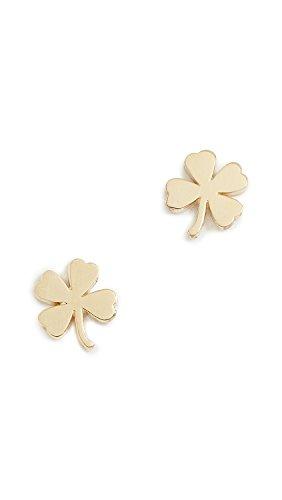 Jennifer Meyer Jewelry Women's 18k Gold Mini Clover Stud Earrings, Gold, One Size ()