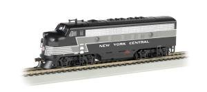 Bachmann Industries F7-A DCC Sound Value Equipped HO Scale Diesel New York Central Lightning Stripe Locomotive -