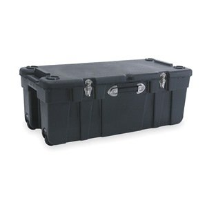 Large Mobile Storage Trunk, W 17 1/2, Blk by Supernon