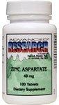 Zinc Aspartate 40 Milligrams 100 Tabs