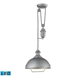 ELK 65081-1-LED, Farmhouse Large Cone Pendant, 1 Light LED, Aged Pewter
