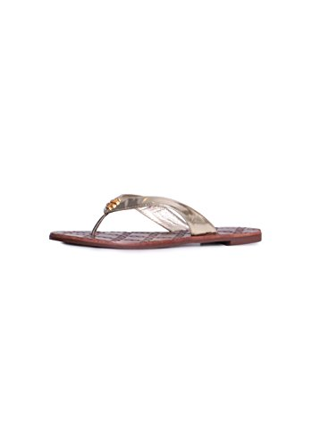 a002f805d Tory Burch Flat Sandals. Tory Burch Monroe Metallic Thong ...