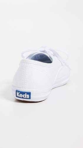 Keds Women's Champion Original Canvas Lace-Up Sneaker, White, 7 S US