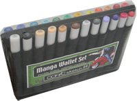 24A - Copic Sketch Set 24 A Manga Wallet Marker by Copic