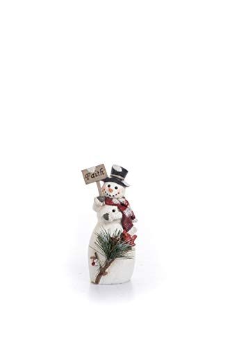 (Transpac Imports D0666 Medium Resin Traditional Snowman Figurines)