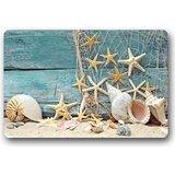 Fantastic Doormat Sea Beach Starfish on Fishing Net Door Mat Rug Indoor/Outdoor/Front Door/Bathroom Mats£¬Bedroom Doormat 23.6