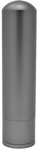 Essential Oil All Aluminum Blank Nasal Inhaler - Refillable Aluminum Alloy Metal Inhaler Tube - Space Gray Color - Comes with 5 High Quality Cotton Wicks - Best for Aromatherapy