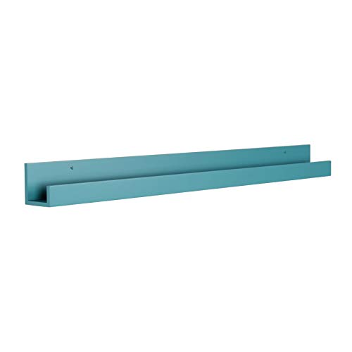- Kate and Laurel Levie Modern Floating Wall Shelf Picture Frame Holder Ledge, Teal