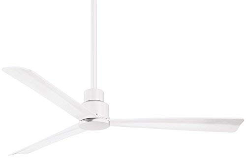 Minka-Aire F787-WHF Protruding Mount, 3 Flat White Blades Ceiling fan, White - Ivory